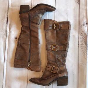 Donald Pliner Dax Tall Boots Low Heel